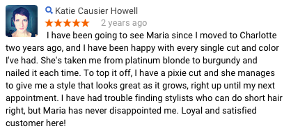 Katie C Review of Maria Knipt Salon