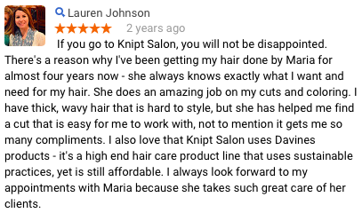 Lauren J Review of Maria Knipt Salon