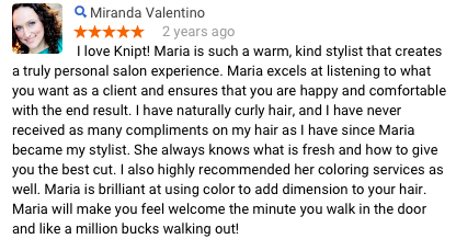 Miranda V Review of Maria Knipt Salon